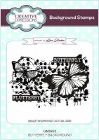 Grunge Butterfly A6 Background Stamp