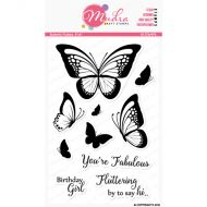 Butterfly Flutters Clear Stamp Set