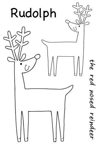 Cheeky Reindeer Clear Stamp Set