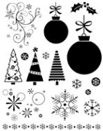 Christmas Baubles Clear Stamp