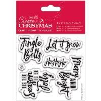 Hand Written Christmas Greetings Clear Stamp Set