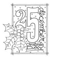Christmas Date Clear Stamp