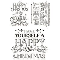Hand Drawn Christmas Greetings Clear Stamp Set (OUT OF STOCK)