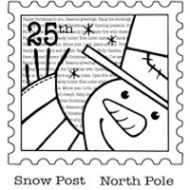 Snow Post Clear Stamp Set