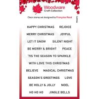Christmas Sentiment Strips Clear Stamp Set