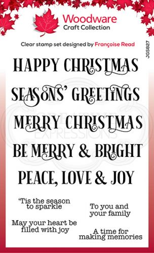 Christmas Sparkle Clear Stamp Set (OUT OF STOCK)