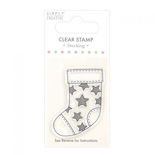 Christmas Stocking Mini Clear Stamp