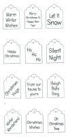 Christmas Tags Clear Stamp
