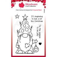 Christmas Tree Gnome Clear Stamp Set