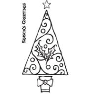Holly Tree Clear Stamp