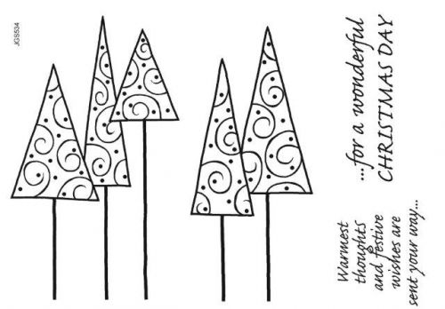 Christmas Trees Clear Stamp Set