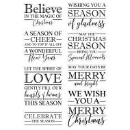 Believe in the Magic Christmas Sentiments Clear Stamp Set