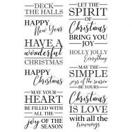 The Spirit of Christmas Sentiments Clear Stamp Set