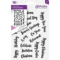 Celebrations Words Clear Stamp Set
