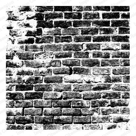 Cover a Card Cling Rubber Stamp Distressed Brick