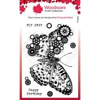 Cog Butterfly Clear Stamp Set