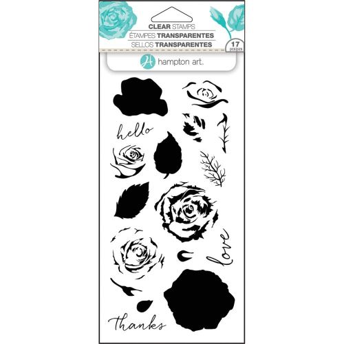 Hampton Art Rose Colour Layering Clear Stamp Set (OUT OF STOCK)