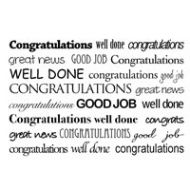 Congratulations Text Box Clear Stamp