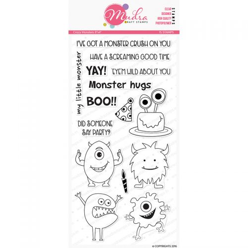 Crazy Monsters Clear Stamp Set