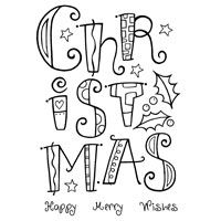 Curly Christmas Clear Stamp
