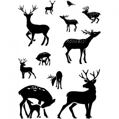 Dear Deer Reindeer Clear Stamp Set