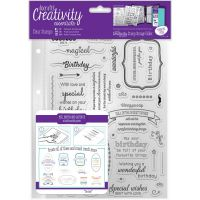 Docrafts Birthday Verses Clear Stamp Set