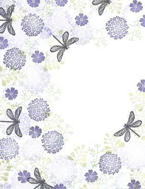 Majestix Dragonfly Garden Clear Stamp Set