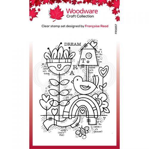 Woodware Dream Garden Clear Stamp