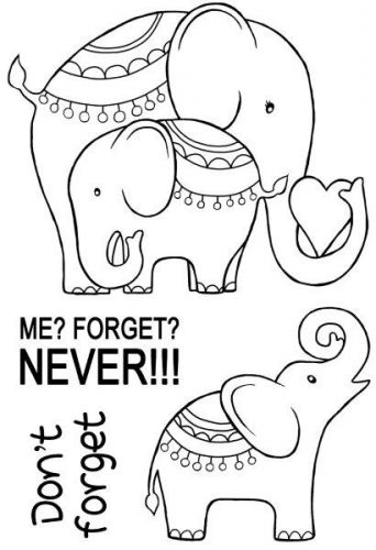 Elephant Love Clear Stamp Set