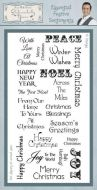Essential Festive Sentiments Clear Stamp Set