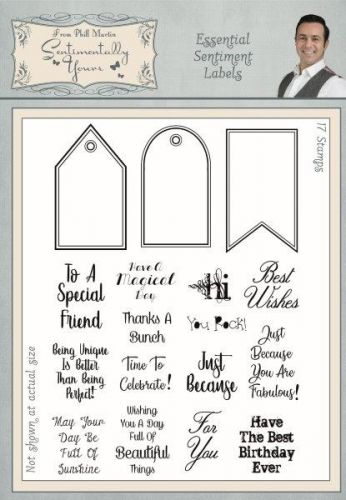 Essential Sentiment Labels Clear Stamp Set