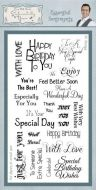 Essential Sentiments Clear Stamp Set
