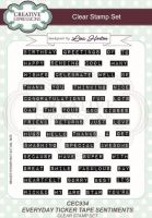 Everyday Ticker Tape Sentiments Clear Stamp