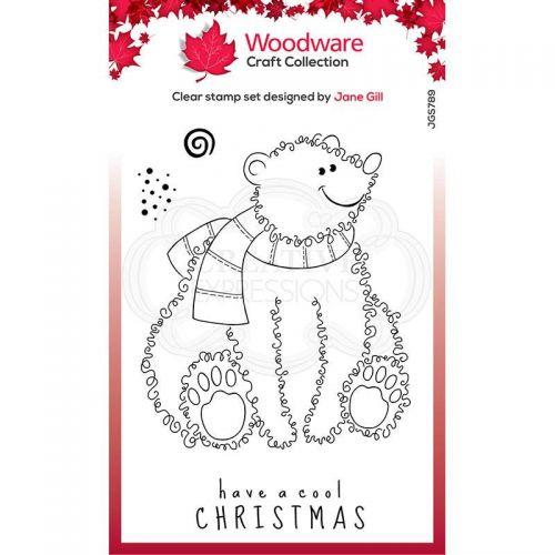 Festive Fuzzies Polar Bear Clear Stamp Set