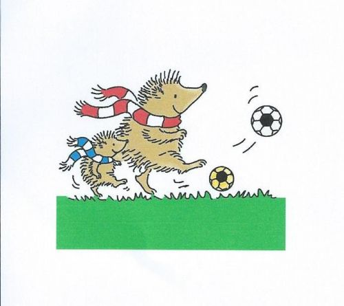 Football Hedgehogs Clear Stamp