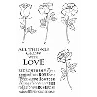 Four Roses Clear Stamp