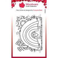Woodware Garden Rainbow Clear Stamp