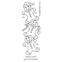 Gingerbread Men Christmas Clear Stamp