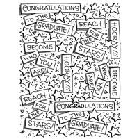 Graduation Background Cling Rubber Stamp