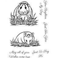 Guinea Pig and Hamster Clear Stamp Set
