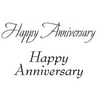 Happy Anniversary Clear Stamp Set