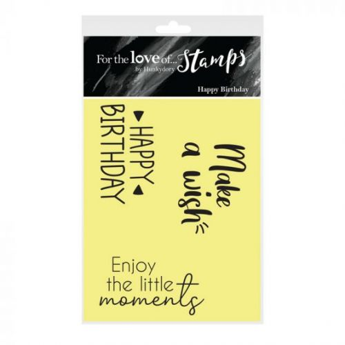 Happy Birthday Sentiment Clear Stamp Set