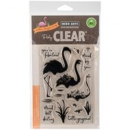 Hero Arts Colour Layering Clear Stamp Set Flamingo