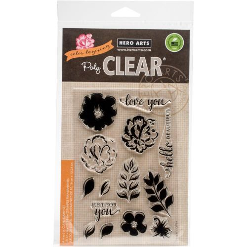 Hero Arts Colour Layering Flowers For You Clear Stamp Set