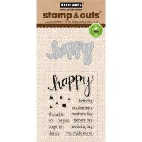 Hero Arts Stamp and Cut Set Happy