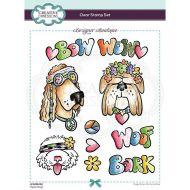 Designer Boutique Hippie Dogs Clear Stamp Set