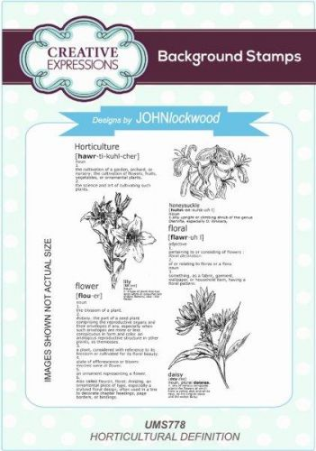 Horticultural Definition Cling Background Stamp