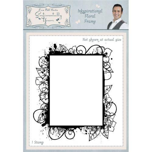 Inkspirational Floral Frame Rubber Stamp