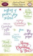 Inside and Outside Christmas Sentiments Clear Stamp Set