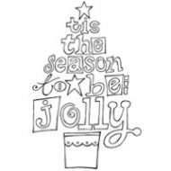 Jolly Tree Clear Stamp